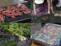 BBQと川遊び
