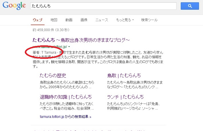 google著者名情報