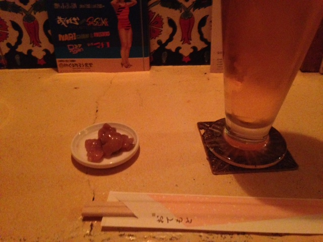 たこわさとビール