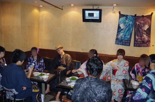 8月2日 浴衣オフ会 in大阪ニコニコBARケセラセラ