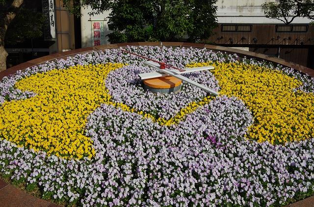 鳥取駅前 花時計