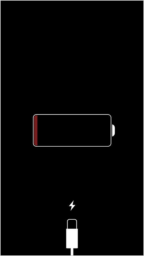 iPhone 放電マーク