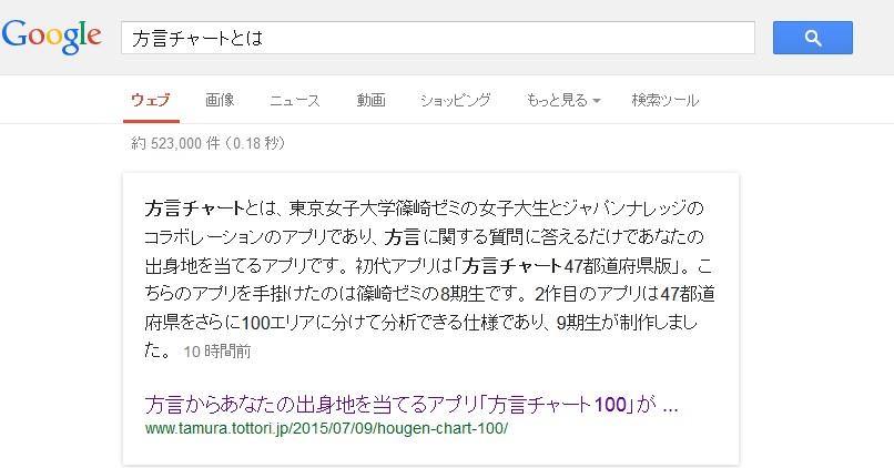 方言チャートとはの検索結果
